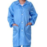 China Safety ESD Anti Static Clean Room Garments For Optical Production Workshop wholesale