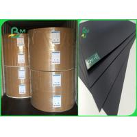 China 350gr 400gr Wood / Recycle Pulp Stable No Fading Black Cardboard For High - Grade Box wholesale