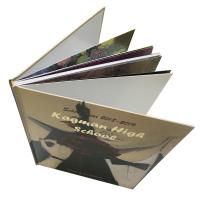 China School Yearbook Printing Services Gold Foil Stamp Logo Hard Cover Sewing Binding wholesale
