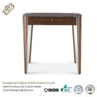 China Bedroom Vintage Chic Wood Console Table Tapered Legs With Drawers wholesale