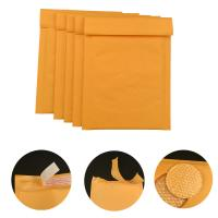China #000 4x8 Secure self-seal Golden Yellow Kraft Bubble Padded Mailers for shipping mailing supplies wholesale