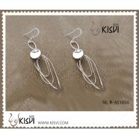 China 925 sterling silver & zircon gemstone earrings with competitive price W-AS1054 wholesale