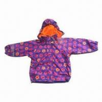 China Children's Raincoat with PU Fabric, All Over print and Fleece Lining wholesale