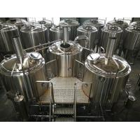 Buy cheap 15 BBL Microbrewery Brewing Equipment Direct Fired / Steam Three Vessels from wholesalers