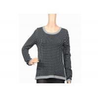 China Autumn Winter Warm Thick Womens Knit Sweater Black And White Female Acrylic wholesale
