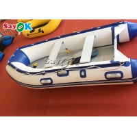 China Heat Sealed Blue PVC Inflatable Boats Water Fun Blow Up Boat 2 Person on sale