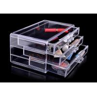 China Injection 3 Tiers Acrylic Makeup Display Stand , Plastic Organizer Drawers wholesale