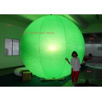 China Printing Logo 4.6m / 15.1ft  Inflatable LED Light Halogen Lamp With Different Color Balloon wholesale