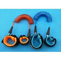 China Fashionable Orange/Blue Anti-lost Retractable Children Safety BeltsSteel Wire Toddler Security Leash wholesale