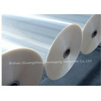China Thermal Lamination Transparent BOPP Film For Food Packaging 2400m - 2800m Length on sale