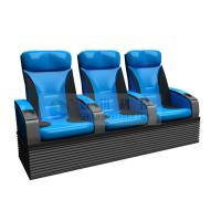 China Folded comfortable 4D Theater Seats , Newest Blue 3-DOF platform motion chair wholesale