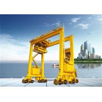 China Double Girder Rubber Tyred Port Gantry Crane For Unloading Containers wholesale
