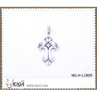 China Hot sell 316 Stainless Steel Cross & Death's-Head Pendant H-L1809 wholesale