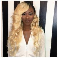 China 100% Peruvian Ombre Human Hair Extensions 1b / 613 Blonde Color wholesale