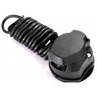 China Black 7 Way Trailer Electrical Plug Connecting Tow Vehicle To Semi Truck on sale