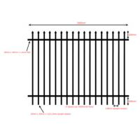 China Colors House Gate Designs And Wrought Iron Fence / Steel Fence on sale
