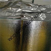 China Double side Woven  foil XPE  heat insulation with overflap  4mm 1.35m width wholesale