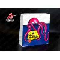 Food Carrier Retro Retail Paper Bags , Custom Printed Paper Lunch Bags