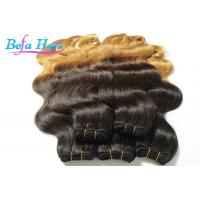 China Luxury Double Wefted Ombre Remy Hair Extensions Peruvian Body Wave Hair Bundles wholesale