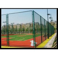 China Green Color PVC Coated Wire Mesh Fencing Used For Football Sport Court Fence wholesale
