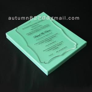 China B IC (3) romantic clear acrylic invitation wholesale