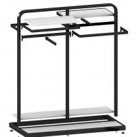 Buy cheap Metal / Wood Customized Color Display Rack Stand Garment Showrooms 600*500 from wholesalers