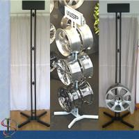 China Six Wheels Auto Body Parts Racks , 2 Sides Metal Mag Wheel Display Stand wholesale