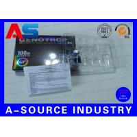 China HGH 2ML / 3mL / 5mL / 10mL Vials Boxes Custom Hologram Stickers With Paper Insert wholesale