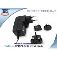 China 12V 1.5A Wall Mount Power Adapter For Acoustic Products , Universal EU US UK AU Plug wholesale