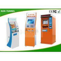 Buy cheap Bill Dispense Coins To Cash Self Service Kiosk Machine , Currency Exchange Kiosk from wholesalers
