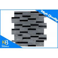 China Mix Gray And Black Stone Marble Tiles Honed Marble Mosaic Tile for Bathroom Wall and Floor wholesale
