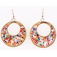 China Big fashion earrings retro color hand-knitting Cleopatra earrings Beads on sale