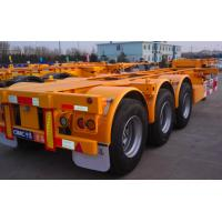 China 20ft Or 40ft Flatbed Container Semi Trailer CIMC Skeleton Single Tire wholesale