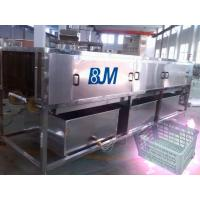 China Long Life Plastic Crate Cleaning Machine For Commercial Turnover Basket / Box on sale