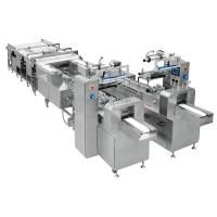 China Touch Screen Snack Food Production Line / Cake Packaging Machine wholesale