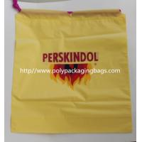 China Yellow Waterproof Nylon Mesh Promotional Drawstring Bags / Personalized Drawstring Bags wholesale