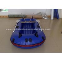 China Pool Rigid Inflatable Boats , Handing Painting Inflatable Pontoon Boats wholesale