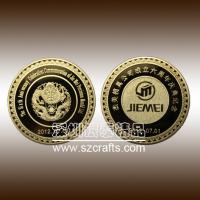 Buy cheap Custom high quality metal golden commemorative coin--Shenzhen factory from wholesalers