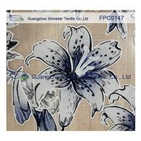 China Lily pattern Burned out Lace Fabric Polyester&Cotton light and comfortable  for garment wholesale