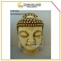 China Resin Buddha Head in Natural Color for Home Decoration wholesale