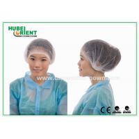 """China Single Use Nonwoven Mob Cap 21"""" 10gsm Double Elastic White Blue Green wholesale"""