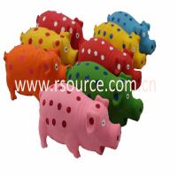 Quality Latex toys latex squeaky pig toy for sale