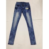 China Western Fashion White Loose Fit Tapered Leg Jeans , Low Rise Skinny Jeans For Women wholesale