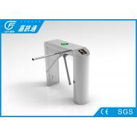 Quality Staff Entrance Arm Stainless Steel Turnstiles Remote Light Indicators Smooth for sale