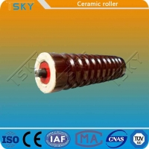 China Strong Hardness Ceramic Conveyor Idler Roller wholesale
