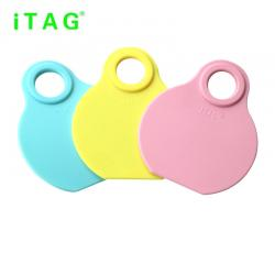 China cattle neck tag,cow ear tag,cattle ID tag,with rope and lock,plastic TPU material,80*65mm,yellow,pink,light blue color for sale