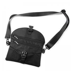China Nylon messenger bags, black shoulder with wide straps crossbody bag wholesale