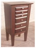 Buy cheap Brown Color Wooden Jewelry Box Moisture Proof With Sturdy / Durable Frame from wholesalers