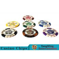 Buy cheap Customizable 14g  Clay Poker Chips With  Mette  Sticker from wholesalers