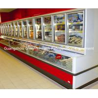 Freestanding 3 Doors Commercial Beverage Display Refrigerator For Mall